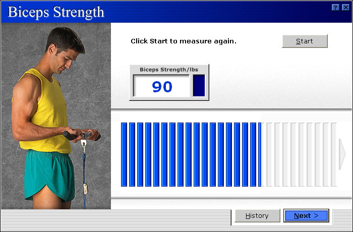 MicroFit Biceps Strength Assessment