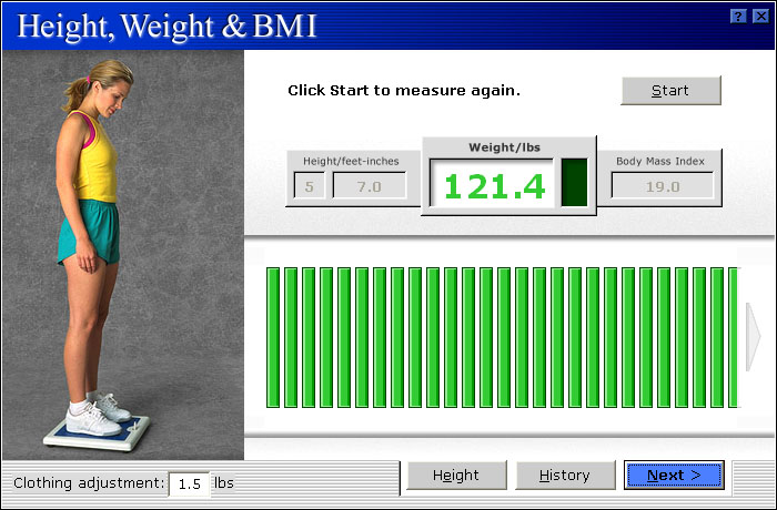 MicroFit Body Weight Assessment