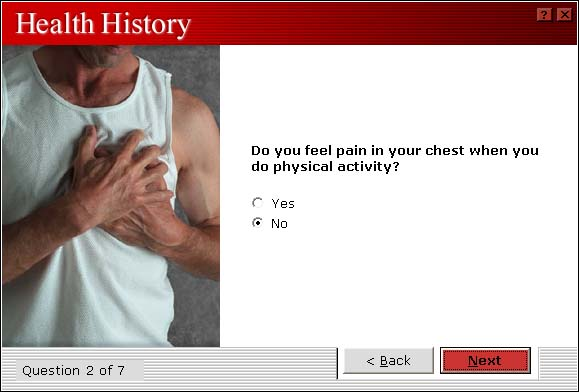 Health History Chest Pain