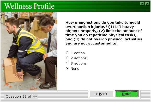 Wellness Profile Safety Category