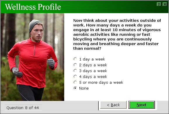 Wellness Profile Exercise Category