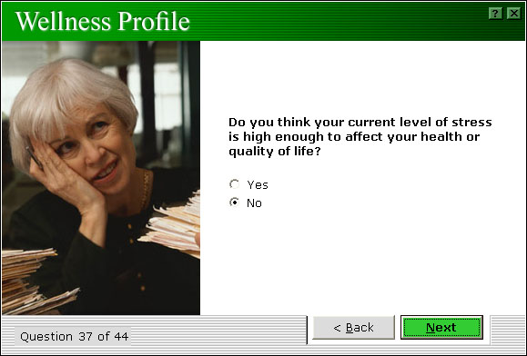 Wellness Profile Stress Category