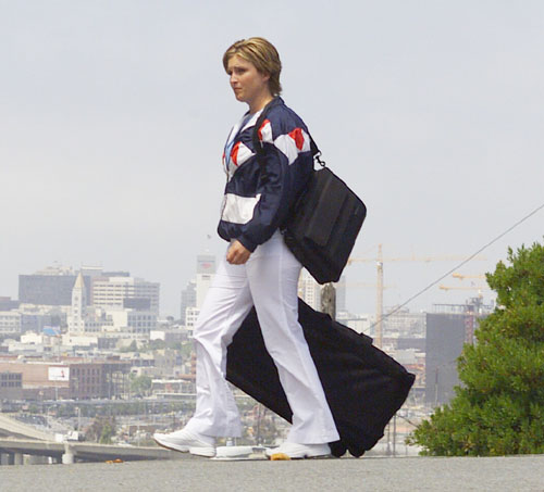Woman walking with MicroFit FitKit